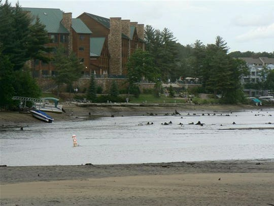 Destruction left by flooding at Lake Delton in the