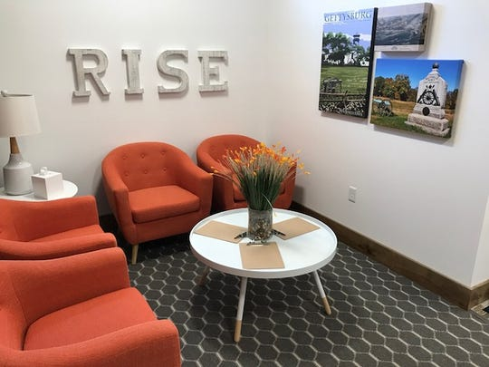 The interior waiting room at RISE Carlisle, one of