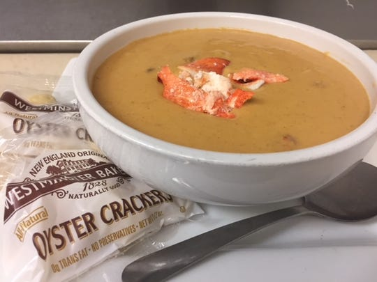 The bisque is rich and creamy, made with a touch of