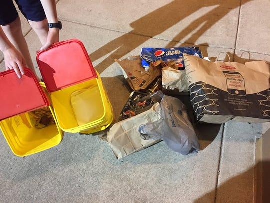 A Carmel family decided to collect all of their waste for the first 10 days of a recent road trip. This was what they had collected after only one day.