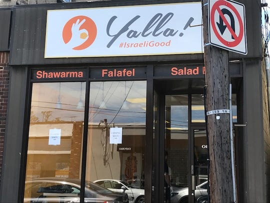 The OK hand gesture is an innocuous symbol to most people that means all is well. Here, a new Middle Eastern restaurant in Teaneck uses it on its sign.