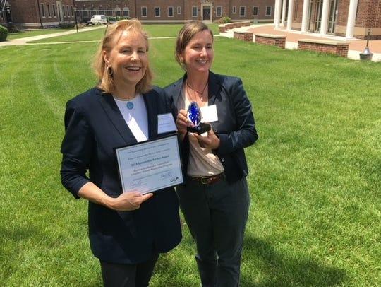Cindy Ehrenclou, RHA executive director, and Dr. Kristi