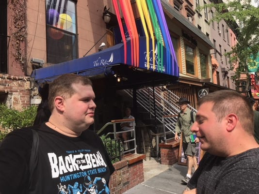 Robert DeVito at NYC Pride March