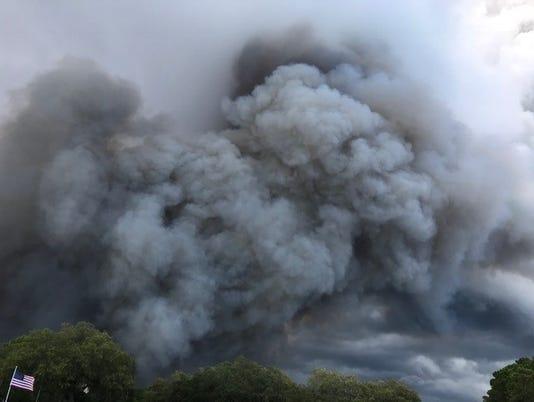 Eastpoint Florida wildfire
