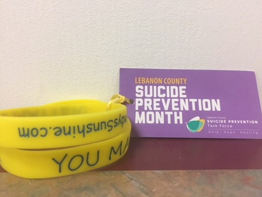 "The Lebanon County Suicide Prevention Task Force is handing out these bracelets to remind people that ""You Matter."""