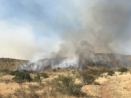 Crooked Creek Fire, in the Guadalupe Ranger District, is reached a total of 7,082 acres.