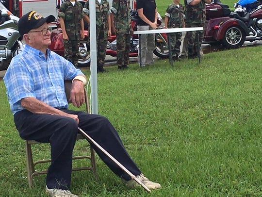 Robert Zuber, 99, a member of the Merchant Marine in