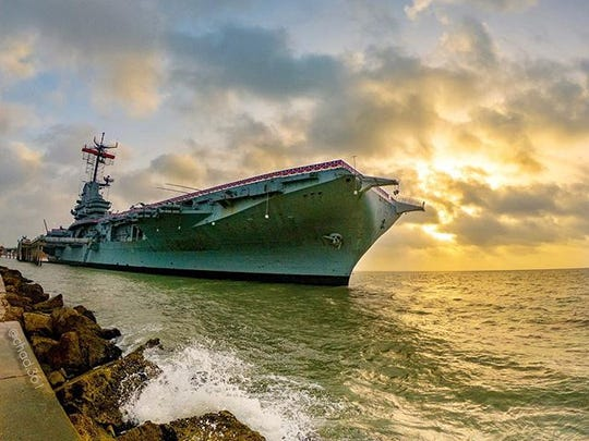 USS Lexington sunrise with Saharan dust from Africa in the backdrop. . . . #usslexington #corpuschristi #saharandust #africa #gopro #texaslife #beahero #goprooftheday #MemoriesMadeCC #cctx #txcoastalbend #vivacc #travelgram #naturelovers #getoutside #exploremore #adventureawaits #blackriflecoffee #seecc #beachlife #texas #wanderlust #texasforever #inspiretexasnow #marinaartscc
