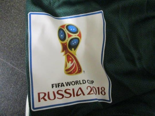 In separate seizures, customs officers found four shipments of counterfeit jerseys for countries including Mexico, Germany, Brazil and Russia worth $47,340, officials said.