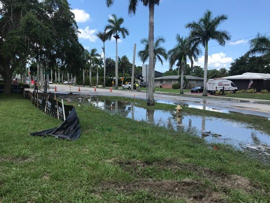 The Fort Myers Police Department is advising motorists to avoid the area around McGregor Boulevard and Royal Palm Square Boulevard due to a water main break.