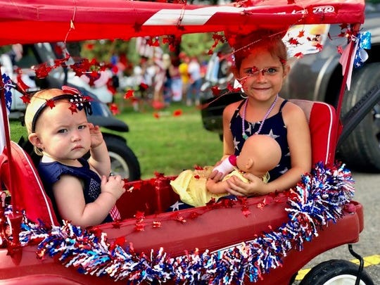 Families celebrated July 4th with the annual Triangle Park children's parade.