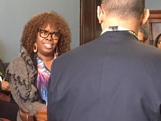 LaTosha Brown, co-founder of Black Voters Matter, met