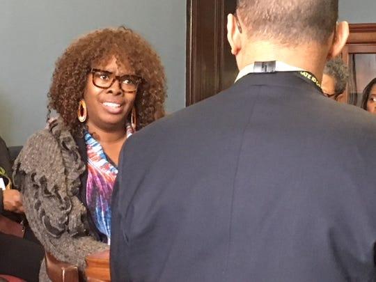 LaTosha Brown, co-founder of Black Voters Matter, met