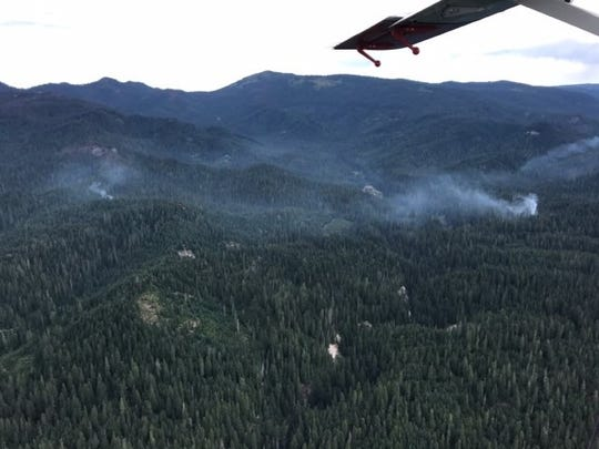 A number of wildfires have sparked due to a lightning
