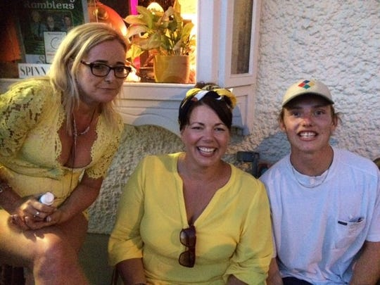 Sharon (left), Tighe (right) and Tighe's sister (center).