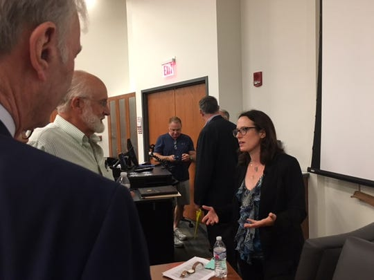 Maggie Haberman, a working member of the White House press corp, Saturday spoke at the Warren G. Harding Symposium in Marion.