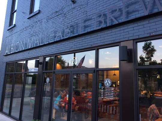 One of the newest restaurants in Albion is the Albion Malleable Brewing Company.