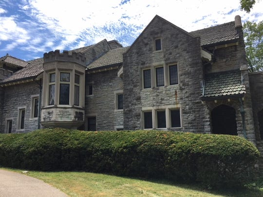 Some detail of the Barrett Estate mansion in Hyde Park, built in 1906 and pictured here July 19, 2018.