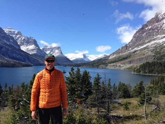 Andrew Nish while backpacking in Glacier National Park. He says 30 minutes of exercise, preferably outdoors, is a huge benefit to health.