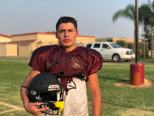 Orosi High's Jerry Huerta became the first player in