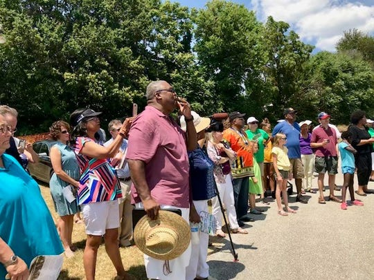 Springfield community members gathered Saturday to view a rendering of the first marker on the African-American Heritage Trail.