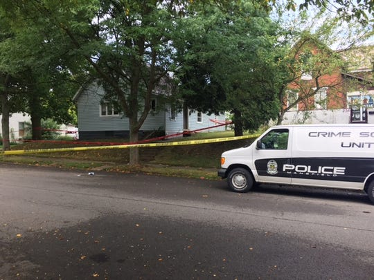 Mansfield police are at the scene of a shooting on South Adams Street.