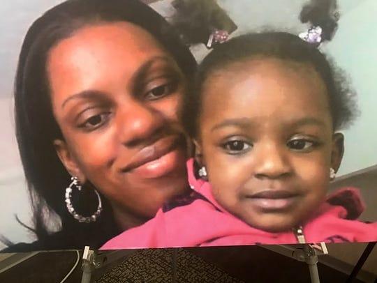 Gladys Johnson, 35, and her 5-year-old daughter, Za'Kira,
