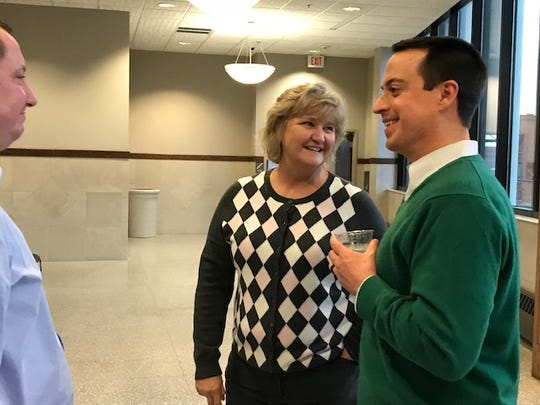 CDW Shelley Perdue and Circuit Court Clerk Herbie McKee at a retirement party held in honor of Perdue. (December 2018)