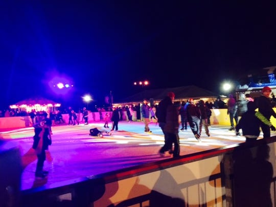 WinterFest at Cooper River Park attrracts lots of skaters at 2014's opening night.