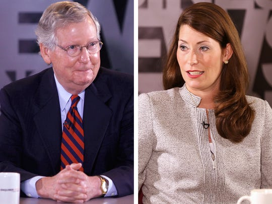 Mitch McConnell and Alison Lundergan Grimes.