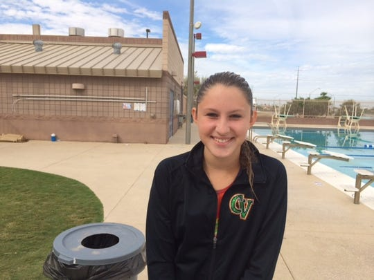 Baylee Stipp, a junior, dives year-round for a club, sometimes spending six hours a day at her passion.