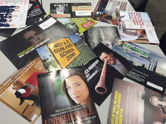 A sea of negative campaign mail