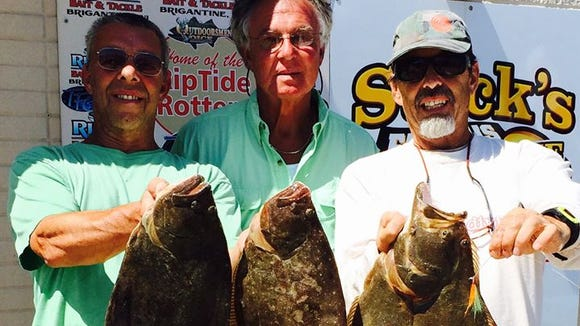 John was out fishing with his brother Ricky and Denny Yarnell and said they had fun out front of Brigantine catching flounder, keeping 3 fish to 6.5 lbs.