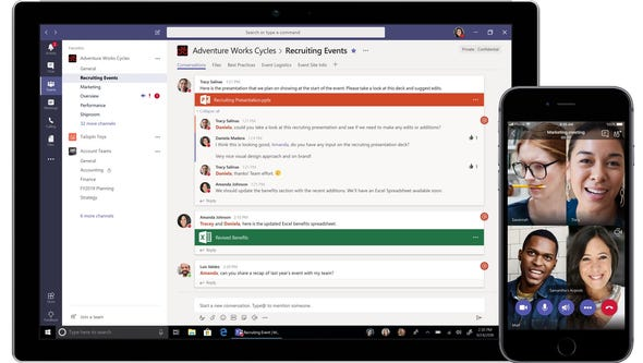 Microsoft Teams is offering a free version.