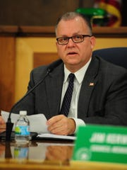 Mayor Randy Walker gave an opening statement at Monday's