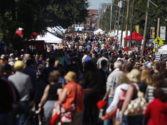 Crowds flocked to the 16th Annual Cider Days on Historic Walnut Street last year.