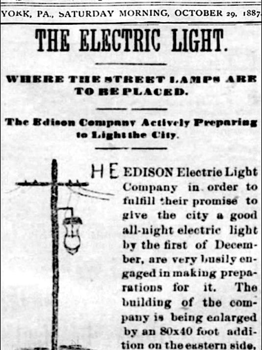 The York Daily (York, PA) issue of October 29, 1887.