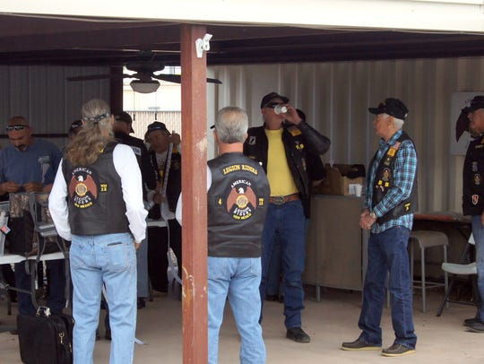 Members of the American Legion Riders, Chapter 12,