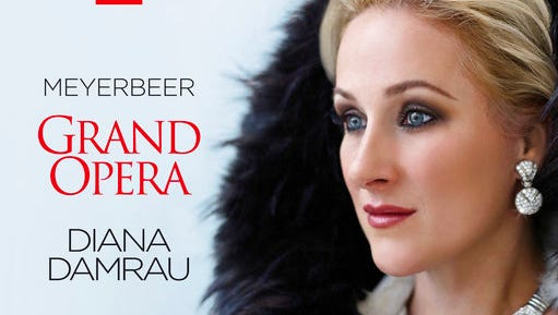 "This cover image released by Erato shows ""Meyerbeer: Grand Opera,"" a release by Diana Damrau."