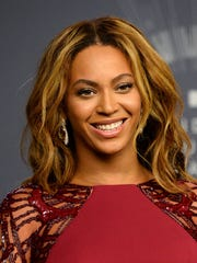 Beyonce backstage at the MTV Video Music Awards in Inglewood, Calif. Beyonce is competing against, Sam Smith, Beck, Ed Sheeran,  and Pharrell for Album of the Year at this year's Grammy Awards on Sunday, Feb. 8.