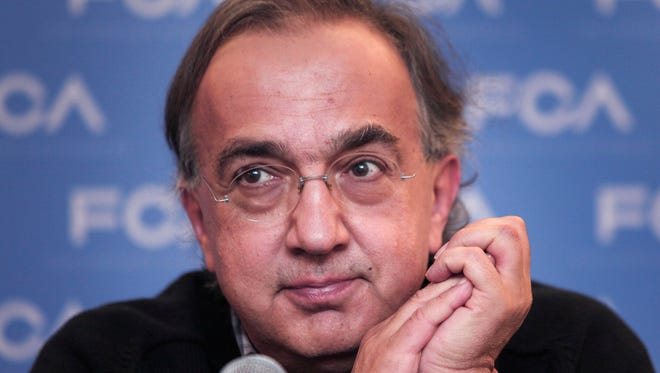 FCA CEO Sergio Marchionne speaks Sept. 26, 2014, in Auburn Hills.