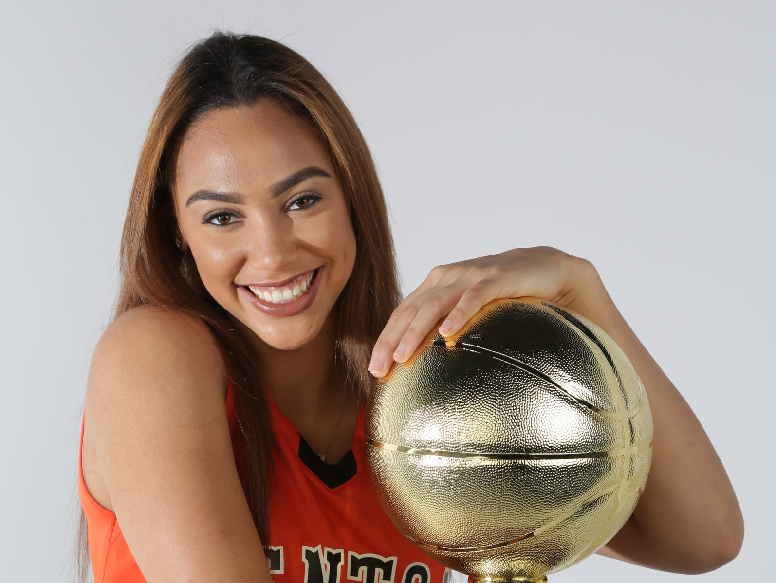 Kysre Gondrezick was named Miss Basketball 2016 by the Basketball Coaches Association of Michigan in Detroit on Monday, March 14, 2016. She plays for Benton Harbor High School. Photograph by Romain Blanquart