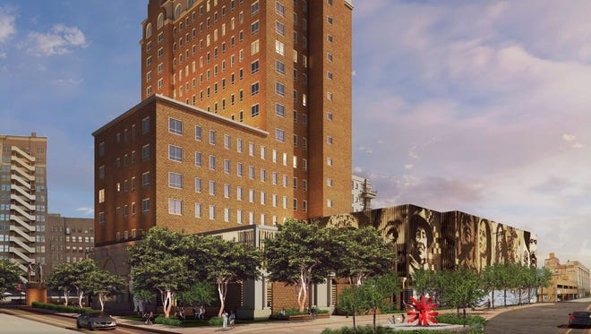 A rendering of what the Hotel Paso Del Norte will look like after it's renovated.