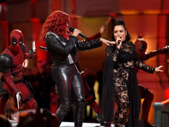 Rappers Sandra 'Pepa' Denton (L) and Cheryl 'Salt'