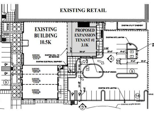This drawing outlines plans for an expansion at Bullfrog