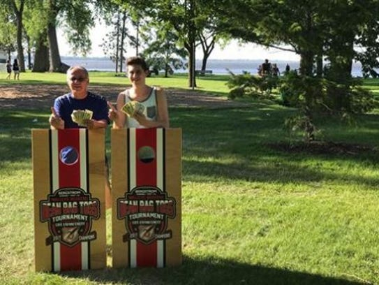 Pictured are the winners of the Bergstrom Subaru Bean