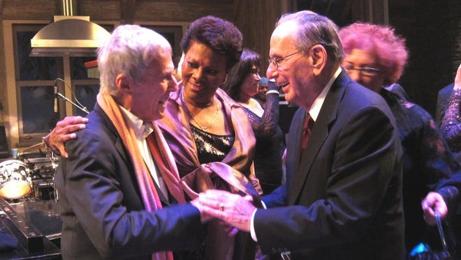 Dionne Warwick and Burt Bacharach, left, celebrate Hal David's 90th birthday.