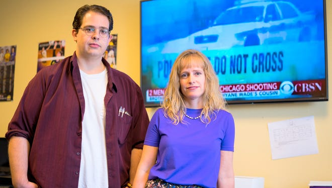 Pictured are Andrew Joy, graduate student at Western New Mexico University; and Dr. Jennifer Johnston, professor of psychology at WNMU.