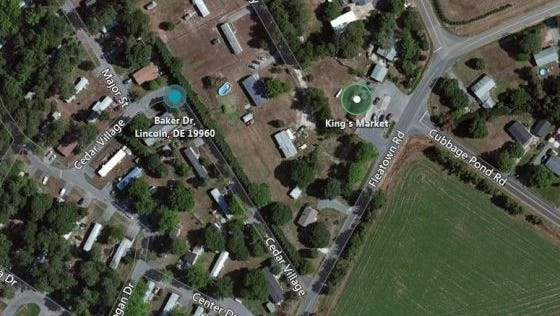 A screenshot of the area where an elderly man was assaulted and robbed Wednesday.
