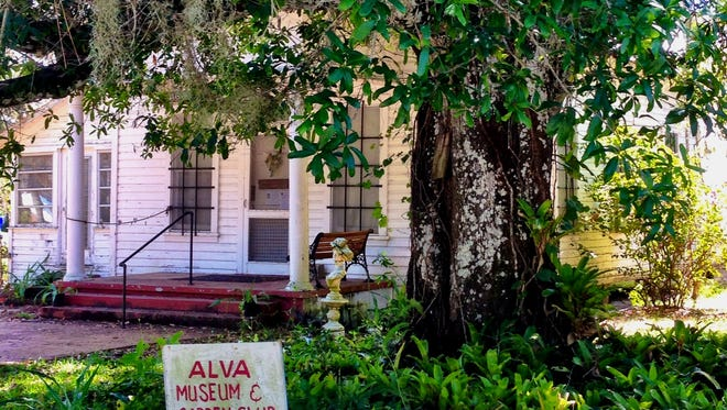 Alva's historic library building is now a museum featuring the Caloosahatchee riverfront town's history.